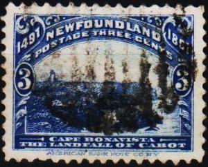 Newfoundland. 1897 3c  S.G.68 Fine Used