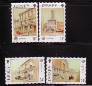 Jersey Sc 532-5 1990 Europa Post Offices stamps mint NH