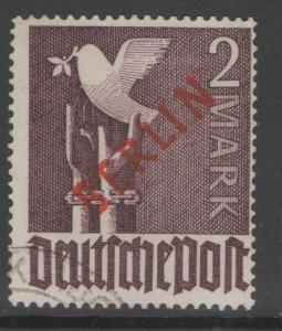 GERMANY SGB34 1949 2m VIOLET FINE USED