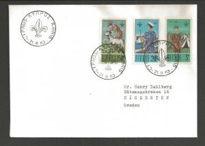 1963 Cyprus Boy Sea Scout Commonwealth Conference FDC