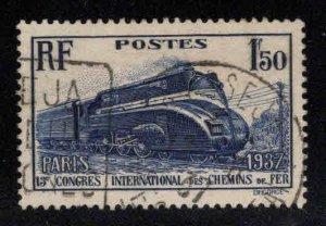 FRANCE Scott 328 Used Locomotive 1937 stamp