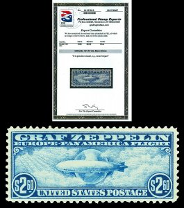 Scott C15 1930 $2.60 Graf Zeppelin Airmail Mint Graded VF-XF 85 NH with PSE CERT