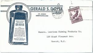 72381 -  NEWFOUNDLAND - POSTAL HISTORY: ADVERTISING Cover to USA 1941