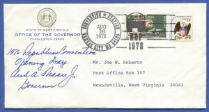 US 1976 GOP Convention cover signed by Gov Moore of West Virginia