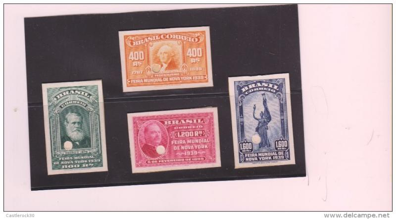 E)1939 BRAZIL, PROOFS, NEW YORK WORLD'S FAIR, GEORGE WASHING