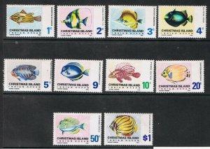 CHRISTMAS ISLAND 1968 - 70 FISH