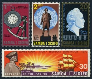 Samoa 329-332,MNH.Michel 222-225. Capt.James Cook,exploration South Pacific-200.