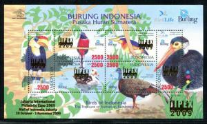 Indonesia 2009, MNH, 1998 Birds,  x31790