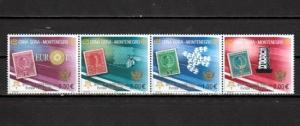 Montenegro, Scott cat. 129 A-D. Europa Stamps 50th Anniversary issue. Bee shown.