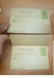 Belgian Congo 15/5c Tree PSC double card Unused (10bee)