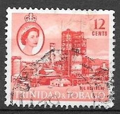 Trinidad and Tobago 1960 12 cents Oil Refinery, used, Scott #95