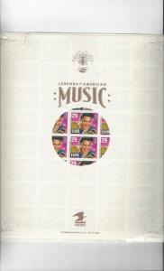 US Elvis Presley #2721 Legends of American Music, Full Sheet in Saver Sleeve