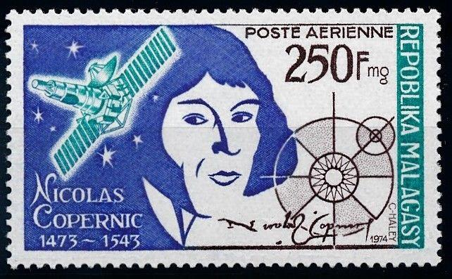 [64461] Madagascar 1974 Space Travel Weltraum Copernicus Airmail MNH