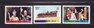 Tuvalu 43-45 Set MNH Queen Elizabeth II Silver Jubilee (B)