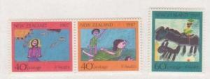 New Zealand Scott # B-127 To B-129, Drawings Semi-Postal Issue From 1987, Col...