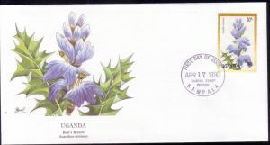 Uganda FDC SC# 758 Bears Breech Flower L375