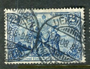 GERMANY; 1906-11 early Deutsches Reich high value 2M. used fair Postmark