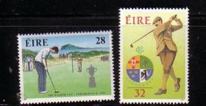 Ireland Sc 839-0 1991 Golf Walker Cup stamp set mint NH