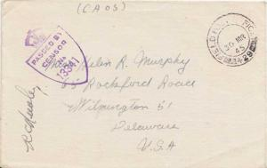 Great Britain Soldier's Free Mail 1945 Field Post Office, 429 Sur Mer Rouen, ...