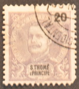 DYNAMITE Stamps: St. Thomas & Prince Islands Scott #44 – USED