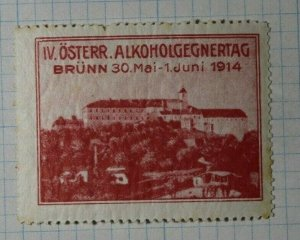 Easter German Alcohol Day 1914 Exposition Poster Stamp Ads