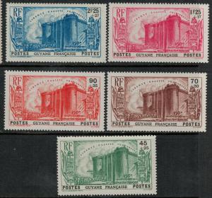 French Guiana 1938 B4-B8 MNH SCV $85.00 Set