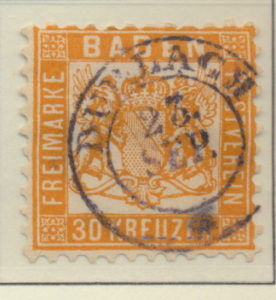 Baden (German State) Stamp Scott #25, Used - Free U.S. Shipping, Free Worldwi...