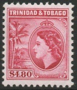TRINIDAD & TOBAGO-1955 $4.80 Cerise Perf 11½ Sg 278a MOUNTED MINT V46212