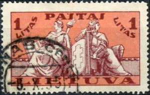 Lithuania #292 1l Arms Used/H