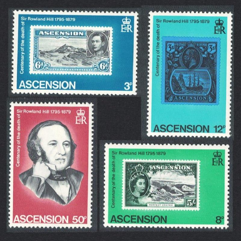 Ascension MNH 247-50 Centenary Sir Rowland Hill 1979