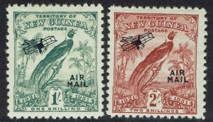 NEW GUINEA 1931 DATED BIRD AIRMAIL 1/- AND 2/-