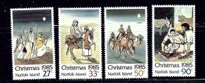 Norfolk Is 373-76 MNH 1985 Christmas    (ap2116)