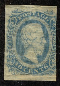 US #CONFEDERATE US #11 VF mint lightly hinged, great color,  NICE CONFEDERATE...