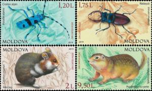 Moldova 2019 fauna red book insects set MNH