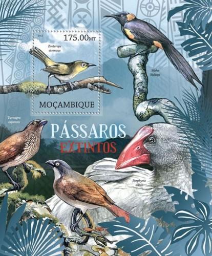 Mozambique MNH S/S Extinct Birds 2012