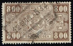 Belgium #Q166 Parcel Post & Railway; Used (0.25)