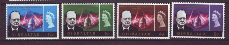 J19591 Jlstamps 1966 gibraltar set mnh #171-4 churchill