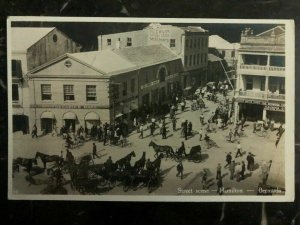 1940s Hamilton Bermuda RPPC Postcard Cover To Wilmerding USA Street Scene