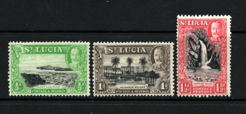 Saint Lucia - SG# 113a - 115a / Perf 13 x 12 MLH  -   Lot 0421062