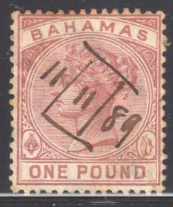 Bahamas #32 Used ( Rare Revenue Cancel)