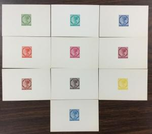 {BJ Stamps} PRINCE EDWARD ISLAND Reprint Die Proofs, 6p, 10 colors, wlCOA letter