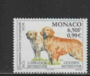 MONACO #2155 2000 INTERNATIONAL DOG SHOW MINT VF NH O.G