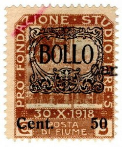 (I.B) Italy Revenue : Fiume Duty 50c on 5c OP