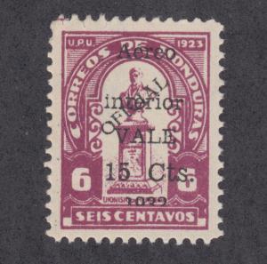 Honduras San 117, Mi 320 III, Sc C74v MLH. 1932 15c on 6c large letters, VF Cert