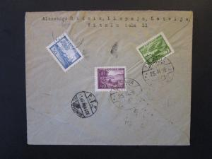 Latvia 1939 Registered Cover to Hungary - Z5390
