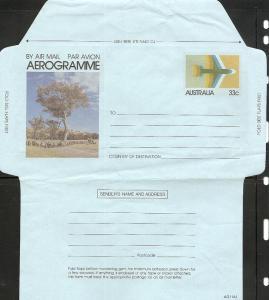 Australia 1981 Airletter A55 H&G #54 Mint