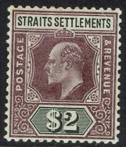 STRAITS SETTLEMENTS 1904 KEVII $2 WMK MULTI CROWN CA