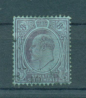 Straits Settlements sc# 114 (2) used cat value $1.75