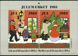 Denmark. Christmas Seal.1983. 1 Post Office,Display,Advertising Sign. Mailman