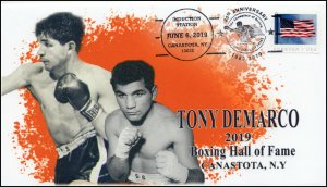 19-215, 2019, Boxing Hall Of Fame, Pictorial Postmark, Event Cover, Tony DeMarco